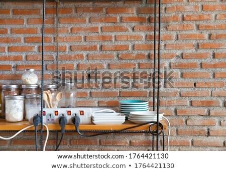 キッチン · 白 · オーブン · 近代建築 · 詳細 - ストックフォト © tiero