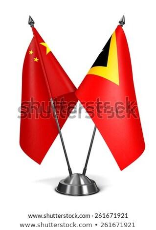 Çin minyatür bayraklar yalıtılmış beyaz arka plan Stok fotoğraf © tashatuvango