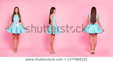 Multiple portrait of one stunning woman Stock photo © konradbak