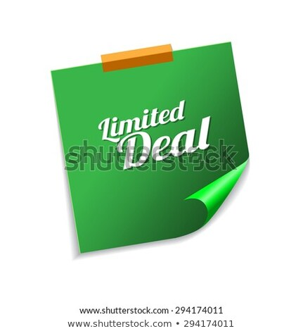 Limited Deal Green Sticky Notes Vector Icon Design Stock photo © rizwanali3d