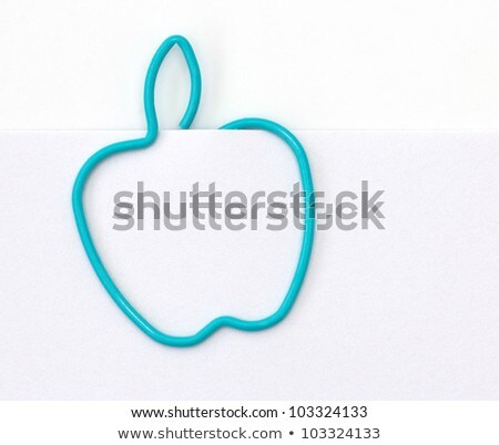 Paper clips formed as hearts Stock photo © pixpack
