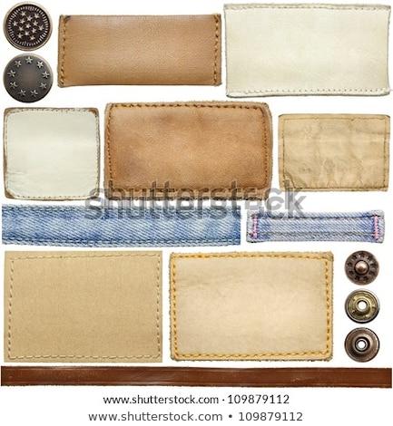Dżinsy tag etykiety odizolowany biały działalności Zdjęcia stock © tetkoren