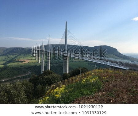Millau Viaduct, Aveyron, Midi Pyrenees, France Stock photo © phbcz