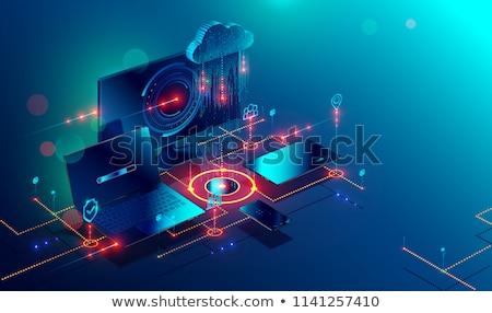Cloud Technology. Online Working Concept. Stock photo © tashatuvango