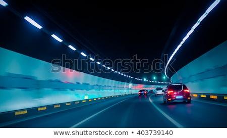 fények · alagút · színes · autó · út · fény - stock fotó © paha_l