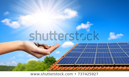 Solar panels and money house Stock photo © kjpargeter