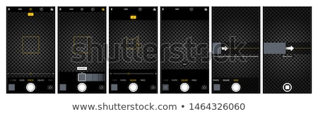 СМИ интерфейс камеры вектора графических искусства Сток-фото © vector1st