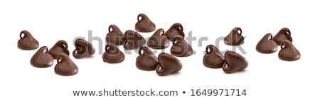 çikolata · yalıtılmış · beyaz · şeker - stok fotoğraf © digifoodstock