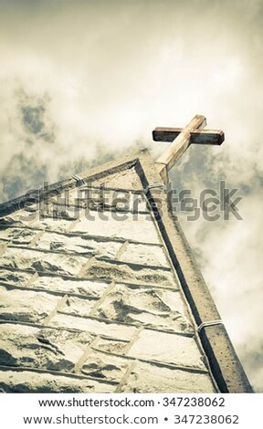 Old church steeple Stock photo © njnightsky