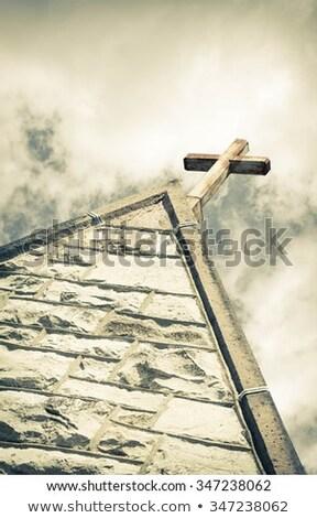 Old church steeple Stock photo © njnightsky