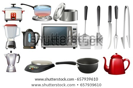retro · ilustração · global · metal · cozinha - foto stock © bluering