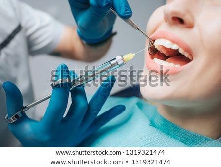 стоматологических · анестезия · фотография · стороны · медицинской · рабочих - Сток-фото © boggy