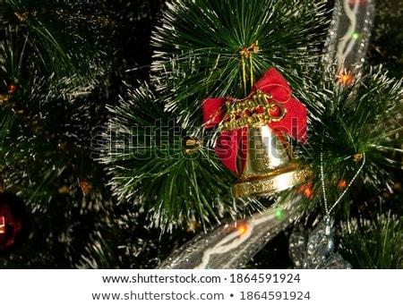 Рождества игрушку форме красный зеленый лук Сток-фото © Lady-Luck