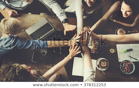 Happy Friends joining hands