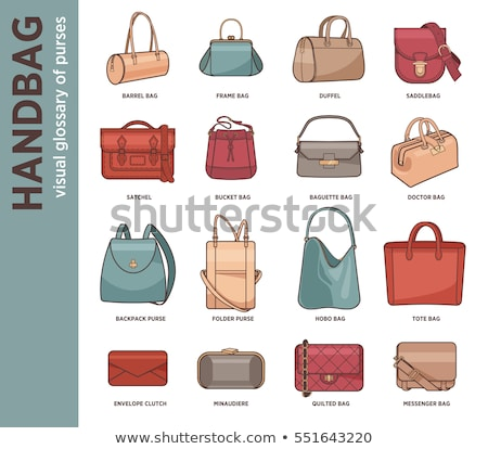 Stock photo: Folder Icon with shopping bag in trendy flat style isolated on white background, for your web site d