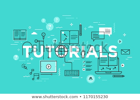 tutor   modern line design style vector illustration stock photo © decorwithme