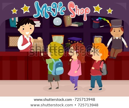Stickman Kids Magic Shop Illustration Stock photo © lenm