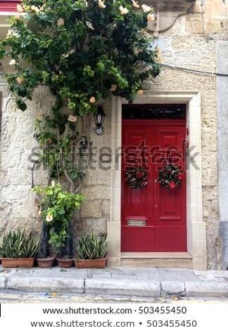 Tradicional porta de entrada Malta ver edifício cidade Foto stock © boggy