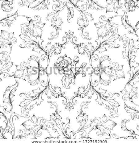 Vintage Filigree Frame Border Pattern Scroll Leaf  Stock photo © Krisdog