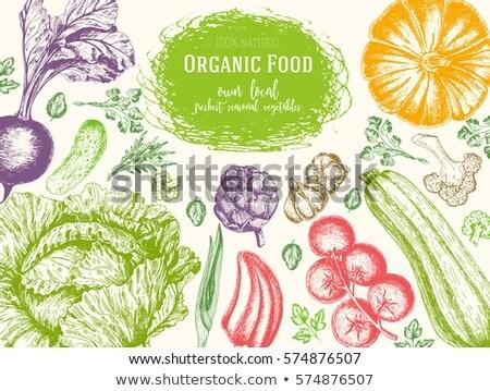 Legumes topo ver quadro agricultores mercado Foto stock © MarySan