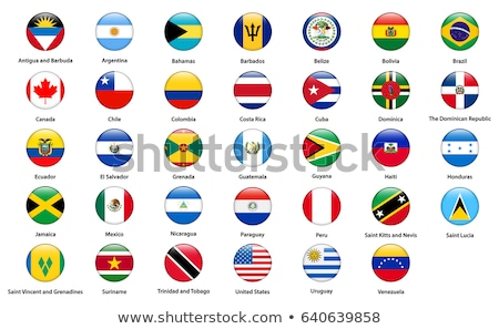 Vector set of the national flag of Trinidad and Tobago Stock photo © butenkow