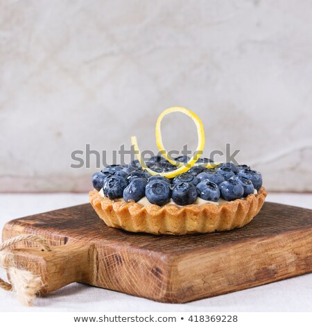 Lemon curd tart with fresh berries Stock photo © Alex9500