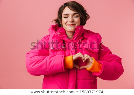 woman nice and warm in winter coat stock photo © photography33