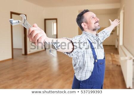楽しい 職人 スパナ 幸せ 背景 ストックフォト © photography33