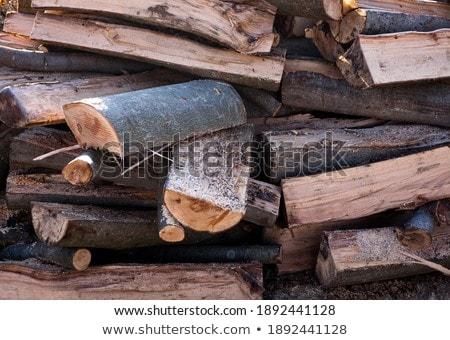 kurutulmuş · yakacak · odun · kuru · kıyılmış · doku - stok fotoğraf © pzaxe