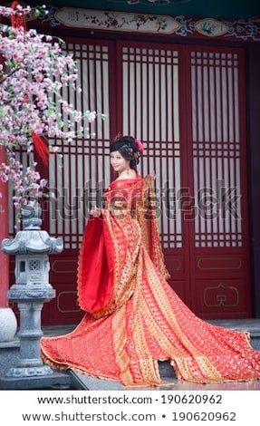 Chinese cheongsam girl Stock photo © elwynn