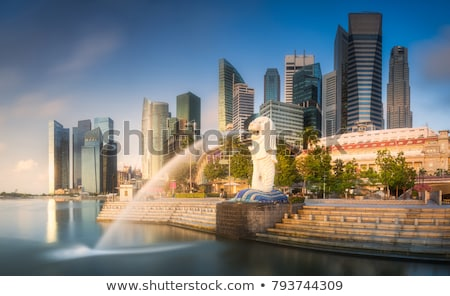 Singapore · rivieroever · luchtfoto · dag · business · kantoor - stockfoto © pzaxe