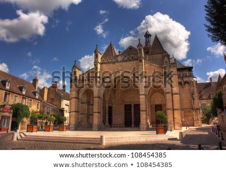 Viewpoint with church in France Stock photo © ivonnewierink