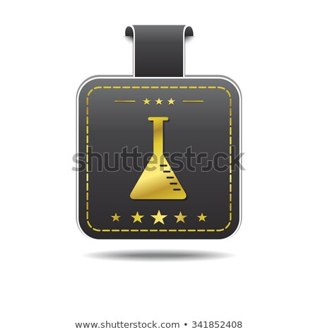 Conical Flask golden Vector Icon Design Stock photo © rizwanali3d