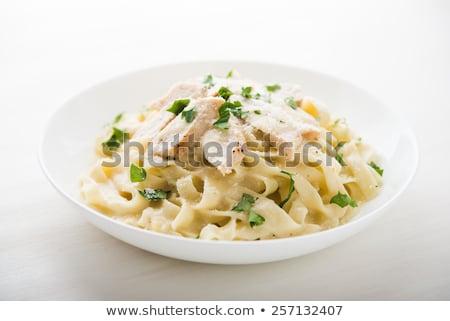 paradicsom · tyúk · tészta · olasz · spagetti · friss - stock fotó © digifoodstock