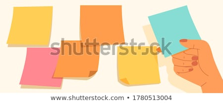 kleur · sticky · notes · sjabloon · schaduw · vector · school - stockfoto © tuulijumala