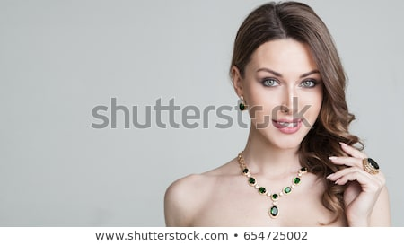beautiful model wearing hair wedding accessories stock photo © denismart