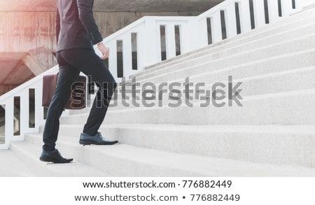 ázsiai · üzletember · bőr · bőrönd · üzlet · öltöny - stock fotó © studioworkstock