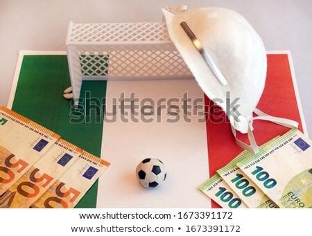 futebol · futebol · com · ilustração · 3d · meta - foto stock © wetzkaz