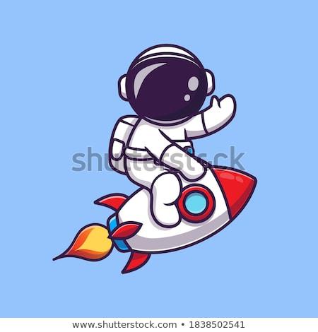Rajz mosolyog űrhajós férfi Stock fotó © cthoman