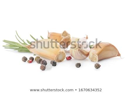 Aglio Spice top view chiodi di garofano Foto d'archivio © szefei