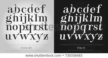 elegant classic alphabet letter sign symbol Stock photo © vector1st