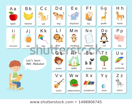 English alphabet from a to z Stock photo © colematt