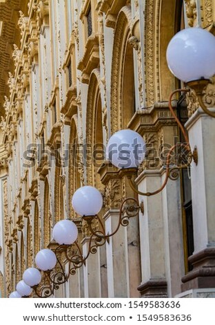 Old stylish lamps in 19th century Galleria Vittorio Emanuele II  Stock photo © boggy