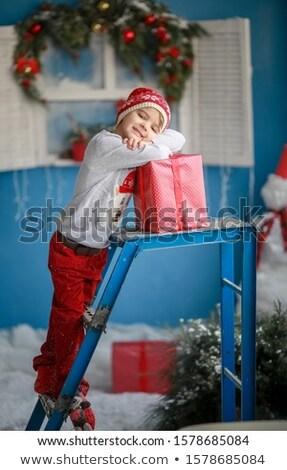 Guapo nino año edad rojo pantalones Foto stock © ElenaBatkova