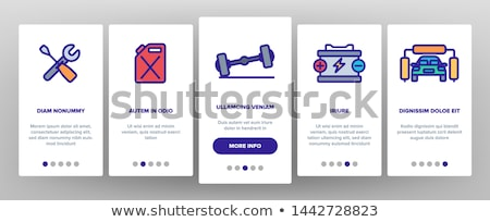 Tow Truck Transport Onboarding Elements Icons Set Vector Stock photo © pikepicture