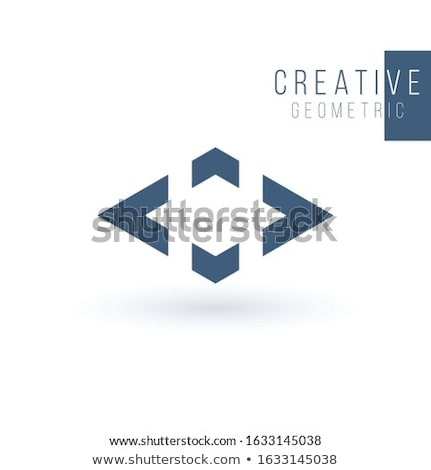 Logistics or delivery logo template. Rhombus with four arrows in different directions. Express money Stock photo © kyryloff