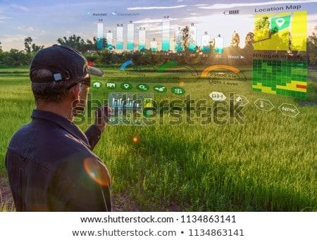 スマート デジタル技術 農業 アプリ ファーム ストックフォト © AndreyPopov