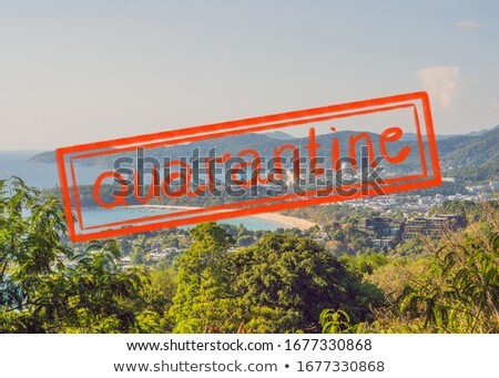 Quarantine due to coronavirus epidemic covid19 Panorama view in the middle of Kuala Lumpur cityscape Stock photo © galitskaya