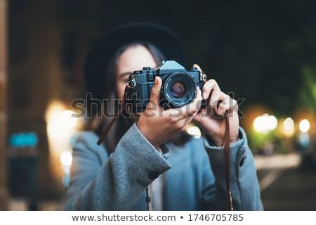 tourist taking photo stock photo © smithore