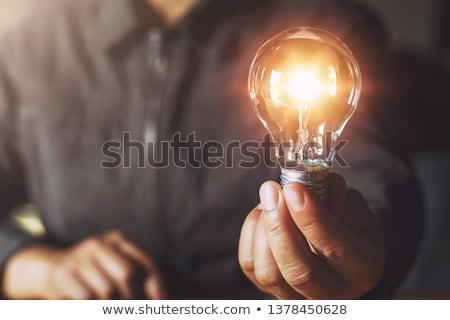 blue idea and bulb Stock photo © marinini